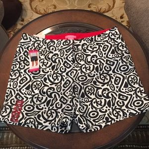 NWT Black and white tailored shorts